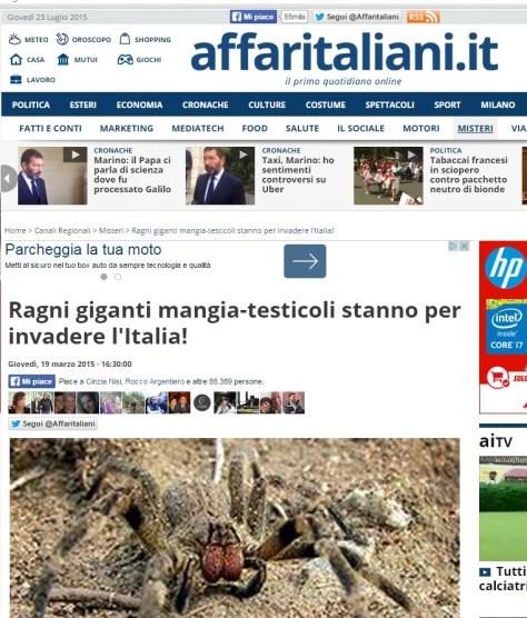 Ragni mangia testicoli